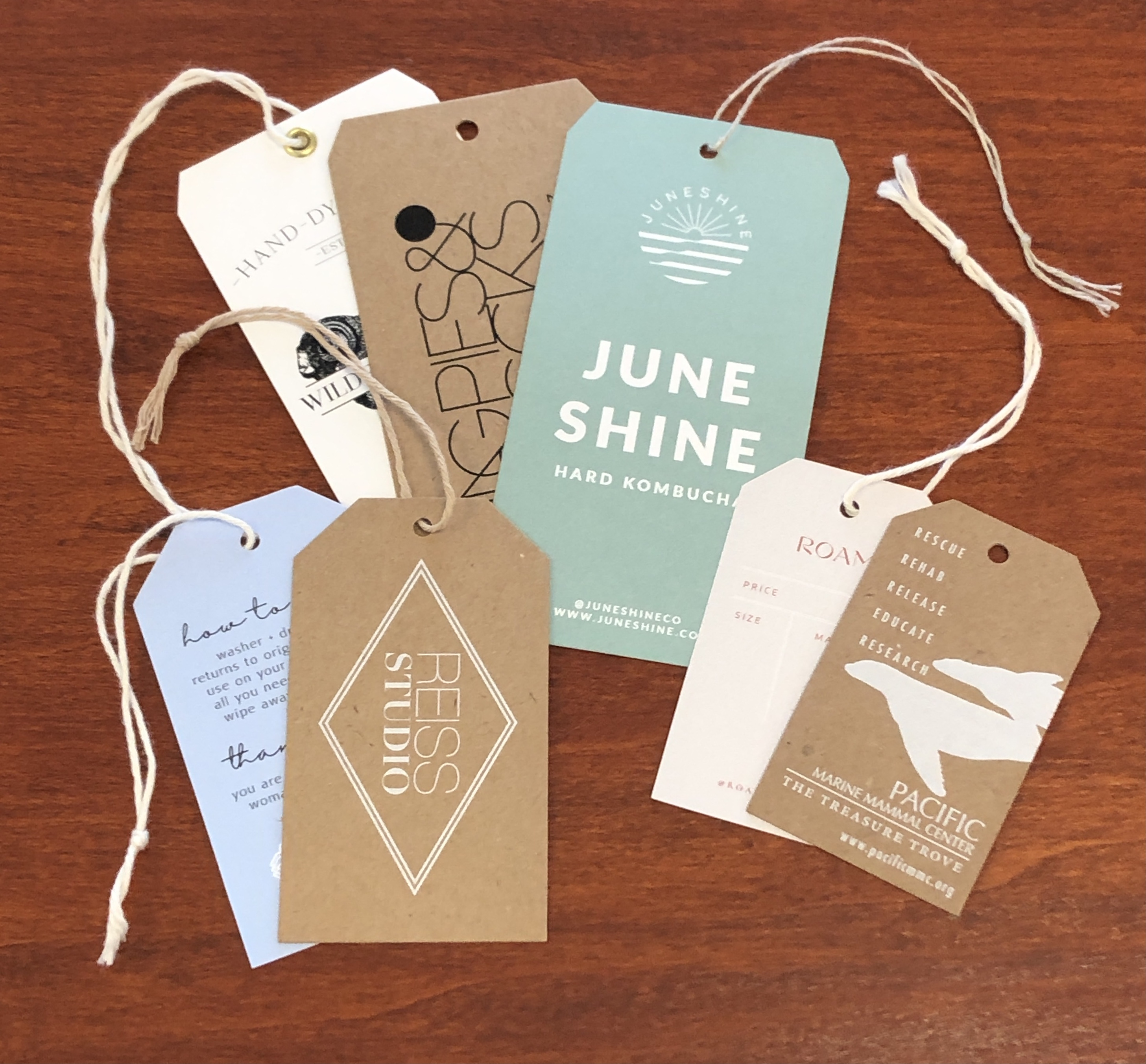 Corner clipped hang tags
